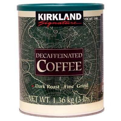 Kirkland Signature Decaffeinated Dark Roast Fine Grind Coffee