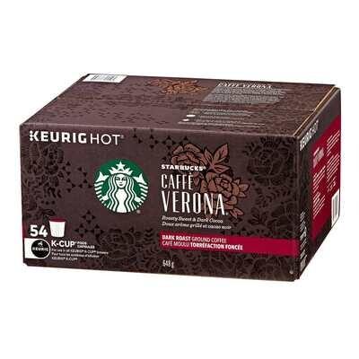 Starbucks Caffè Verona Coffee K-Cup Pods of 54