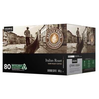 Barista Prima Italian Roast Coffee of 80 K-Cup Pods