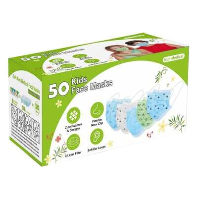 Kids Disposable 3 Ply Non-Medical Masks Pack of 50 - INNOPEX