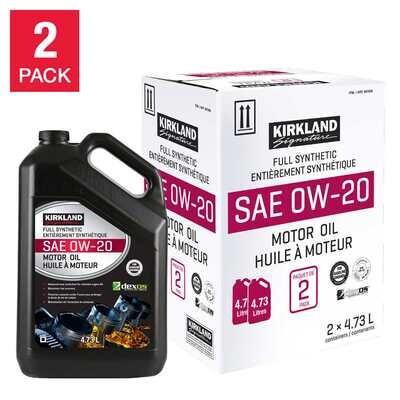 0W20 Full Synthetic Motor Oil 2 Pack - Kirkland Signature