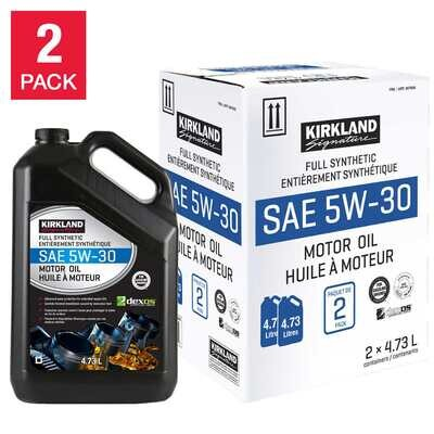 5W30 Full Synthetic Oil for Automobile - 2 Pack by Kirkland Signature