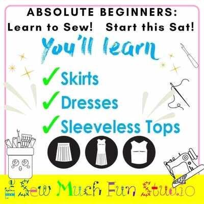 Absolute Beginners Course (8-weeks) Start SAT 9 OCT 10am - 1pm