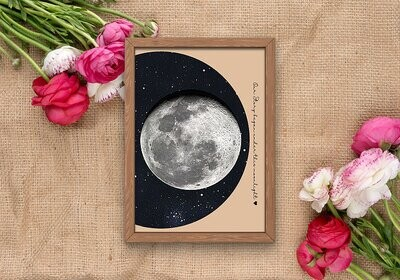 Moon Phase print-personalized