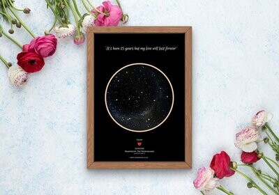 Night sky maps-Printed only