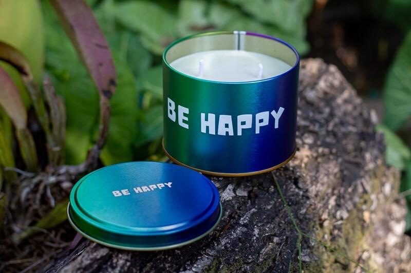 Vela Aromática na Lata - Be Happy