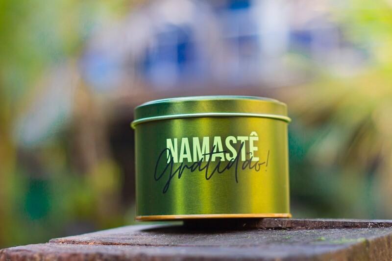 Vela Aromática na Lata - Namastê