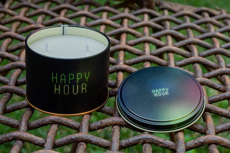Vela Aromática na Lata - Happy Hour