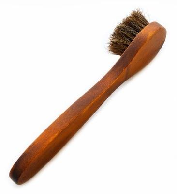 Long Handle Horsehair Shoe Brush