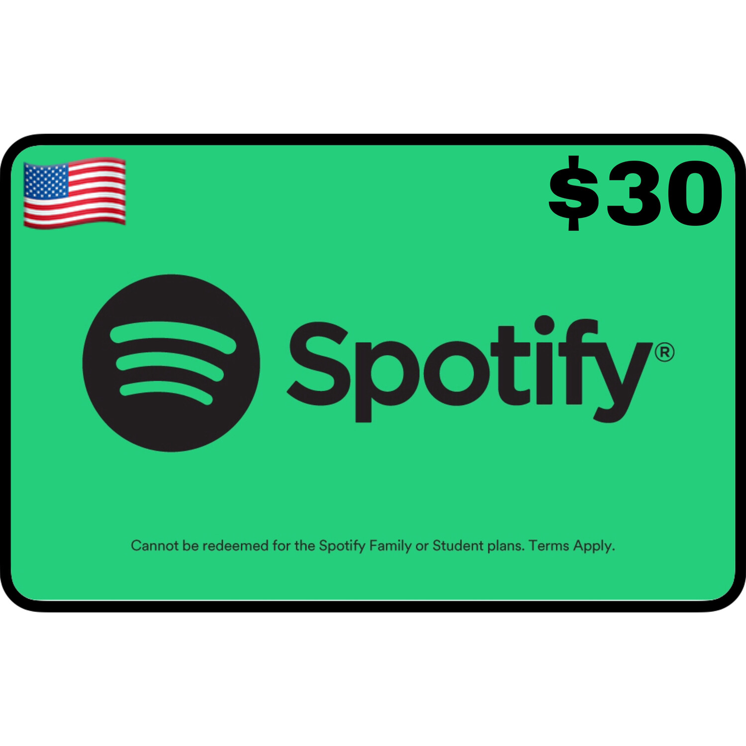 Spotify Premium Gift Card US $30 (3 Months)