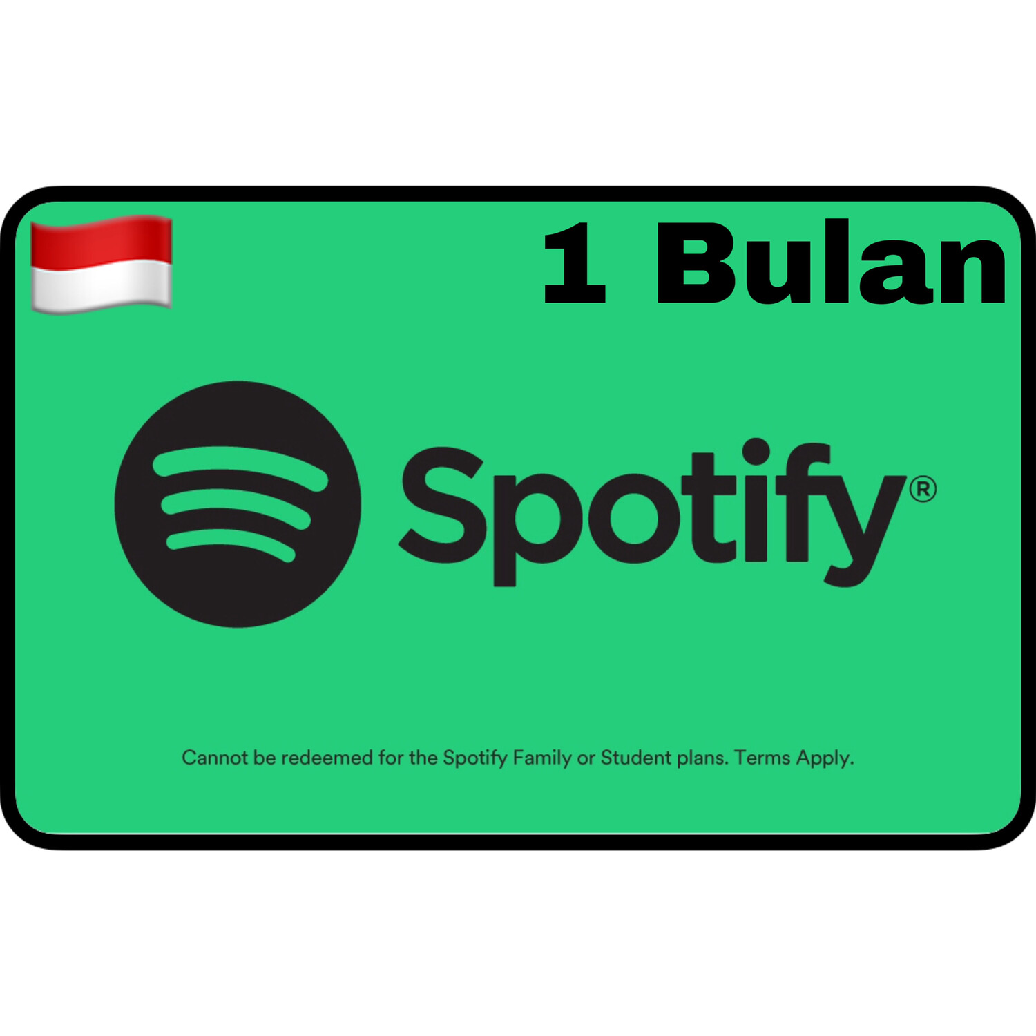 Spotify Premium Gift Card Indonesia 1 Bulan