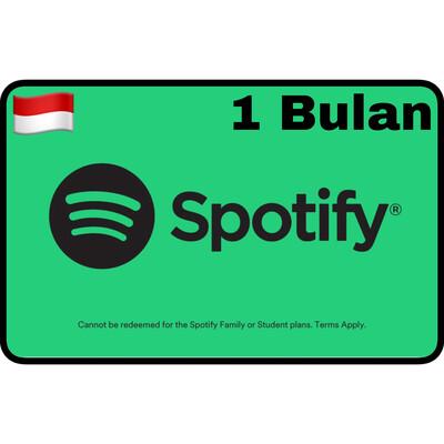 Spotify Premium Gift Card Indonesia 1 Bulan