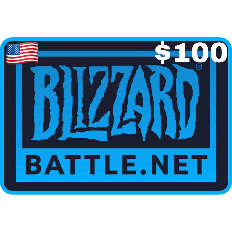 Battlenet Gift Card US $100 Blizzard Balance Code