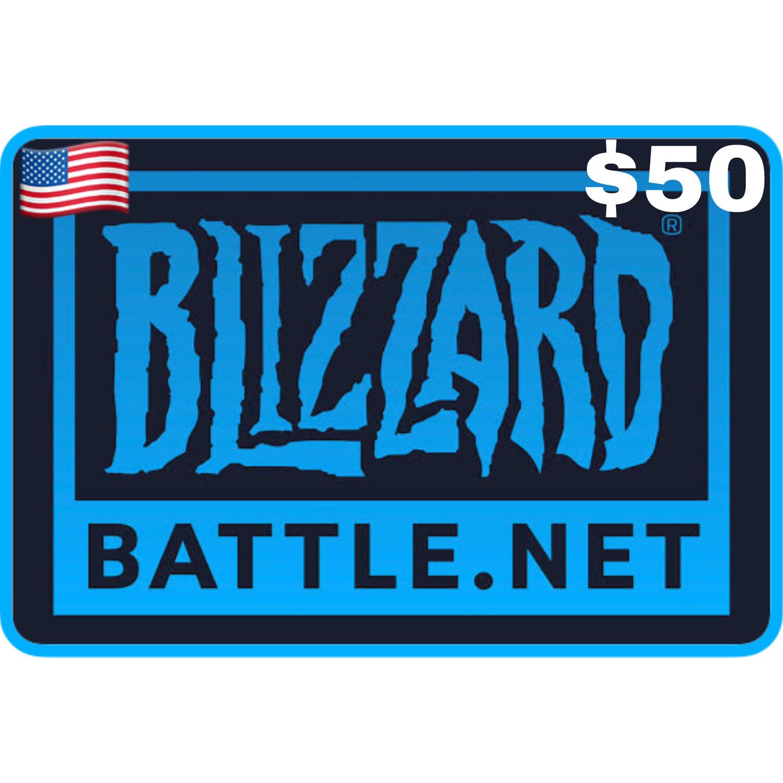 Battlenet Gift Card US $50 Blizzard Balance Code