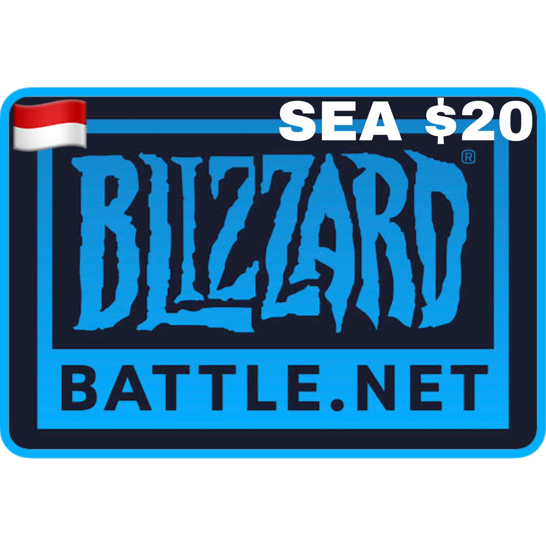 Battle.net Gift Card SEA $20 Blizzard Balance Code