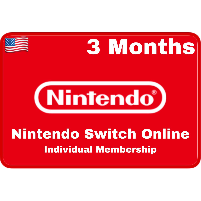 Nintendo Switch Online 3 Months USA Individual Membership