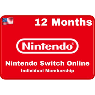Nintendo Switch Online 12 Months USA Individual Membership