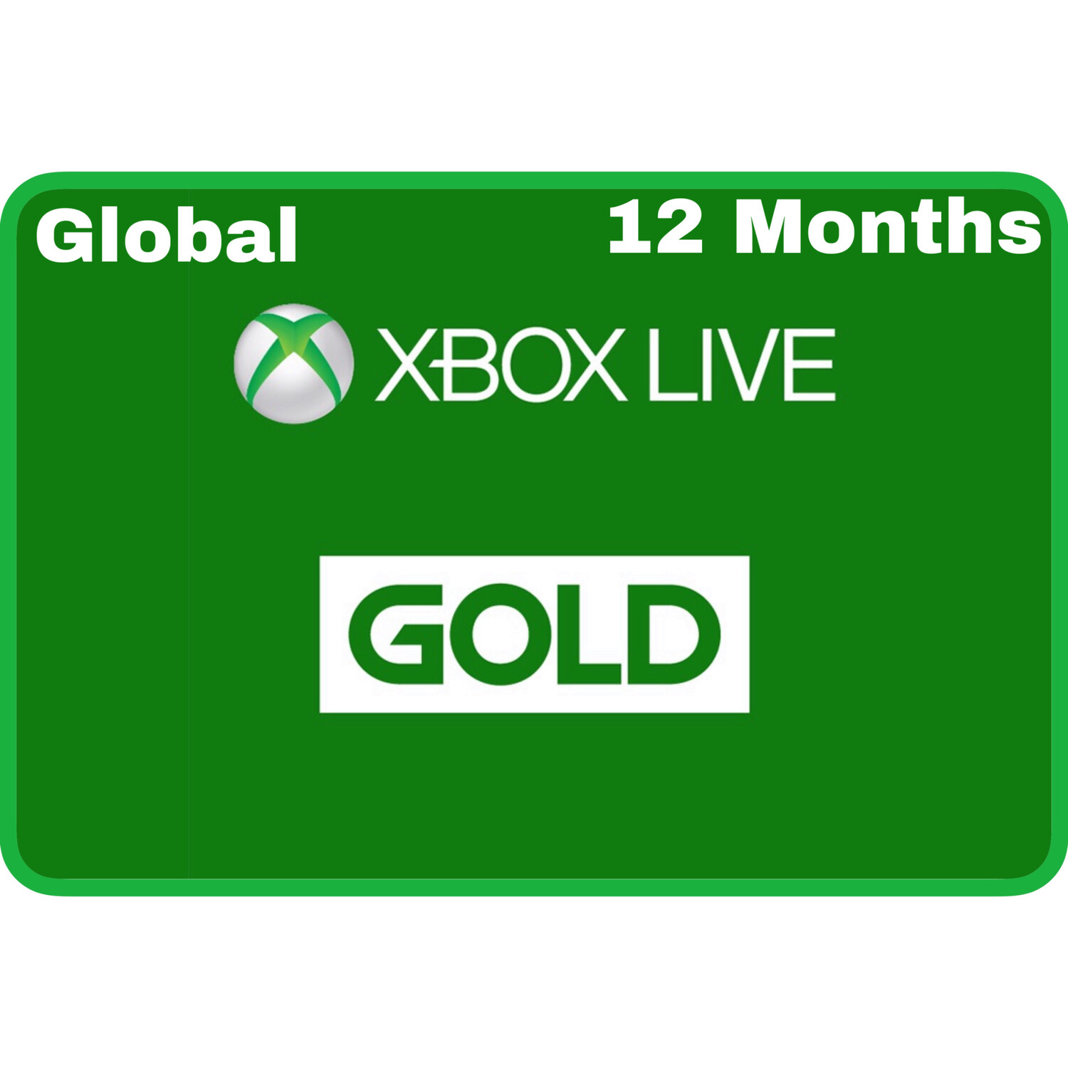 Xbox Live 12 Months Gold Card Membership (Global region)