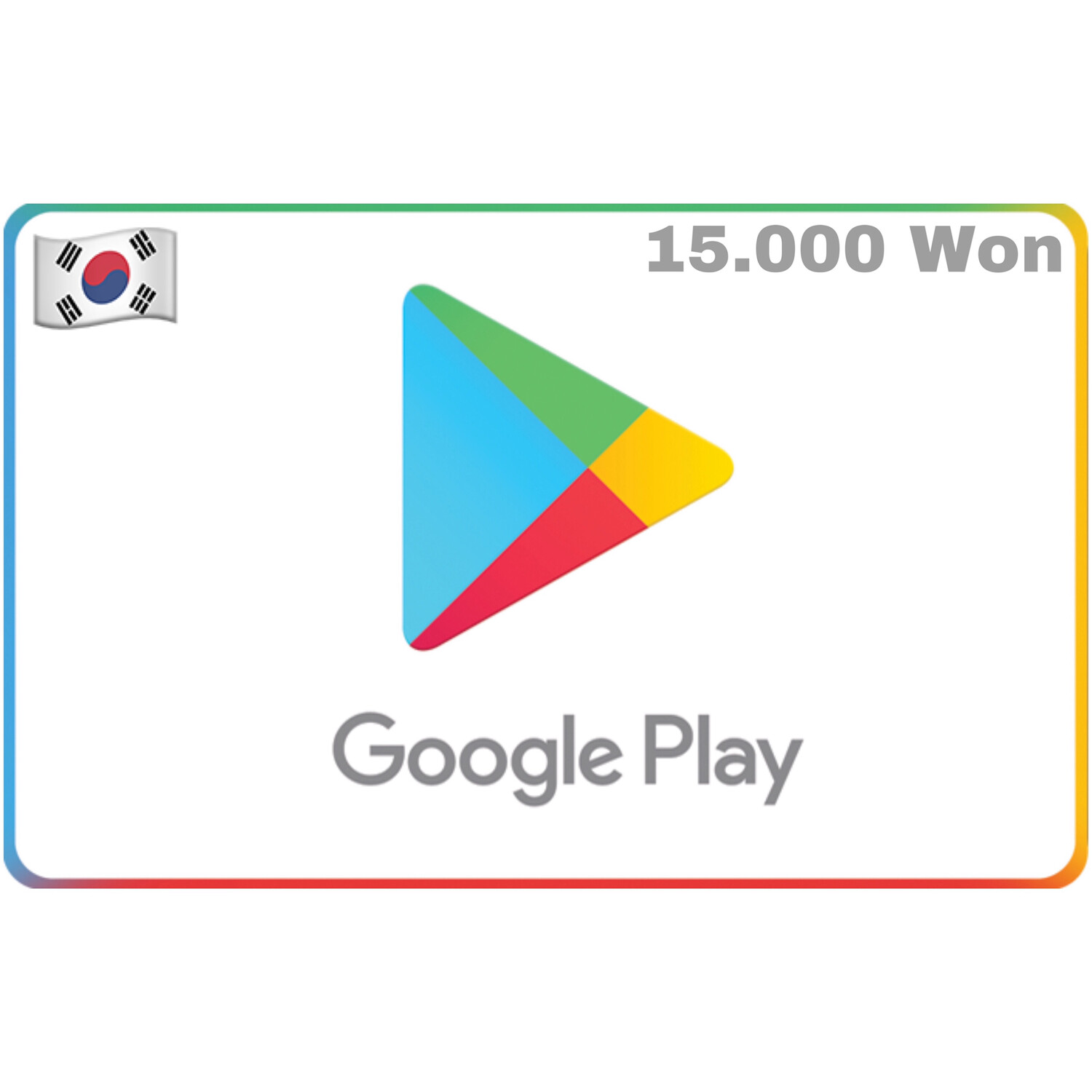 Google Play Korea 15,000 Won