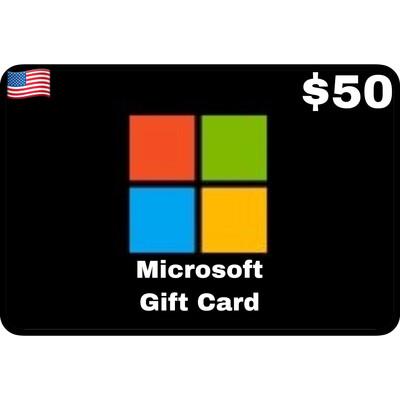 Microsoft Gift Card US $50