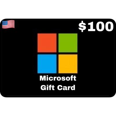 Microsoft Gift Card US $100
