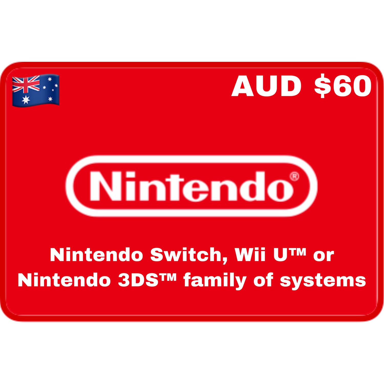 Nintendo eShop Australia AUD $60