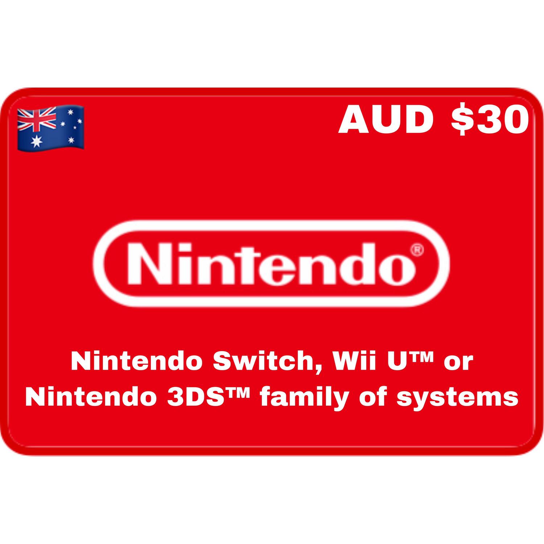 Nintendo eShop Australia AUD $30