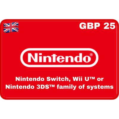 Nintendo eShop UK GBP £25