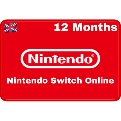 Nintendo Switch Online 12 Months UK Individual Membership