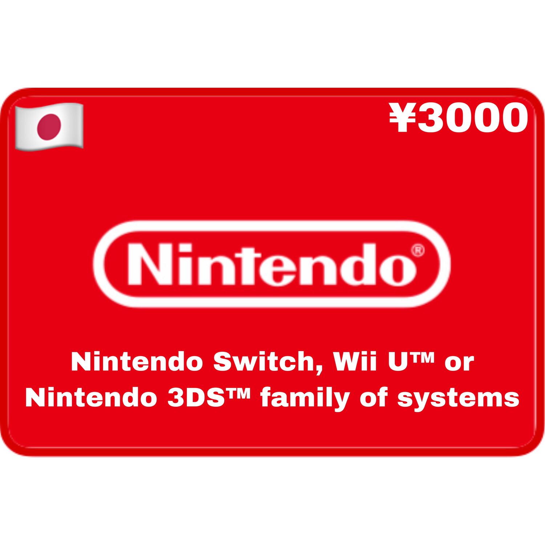 Nintendo eShop Japan ¥3000 YEN