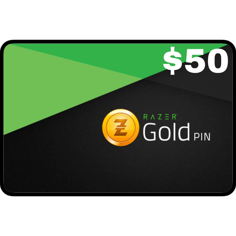 Razer Gold Pin $50 Global