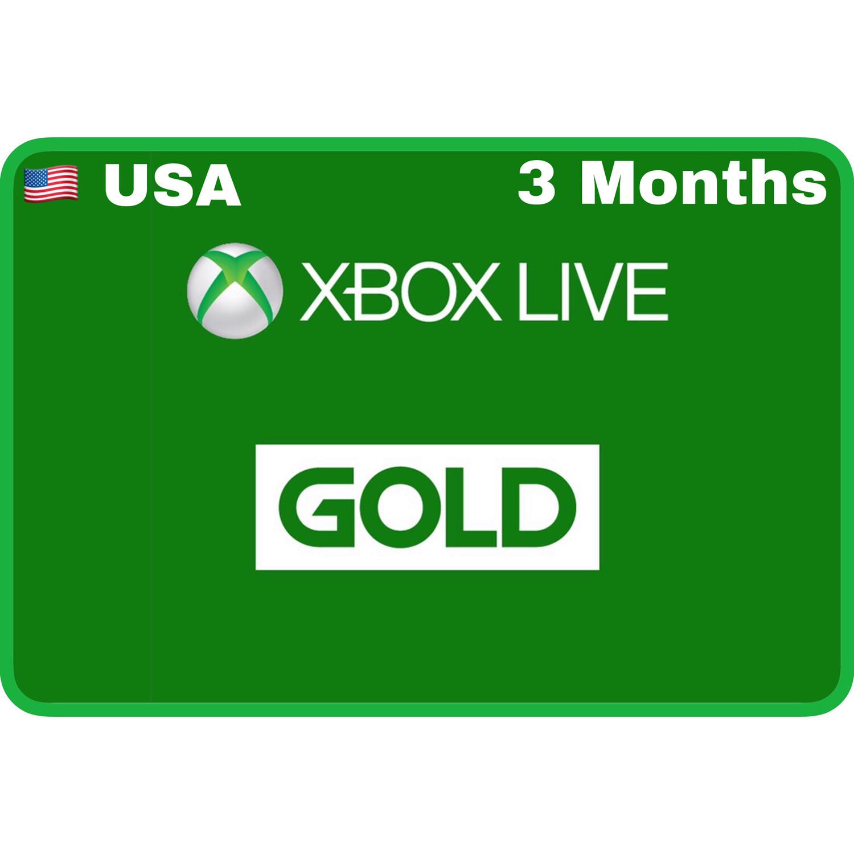 Xbox Live 3 Months Gold USA