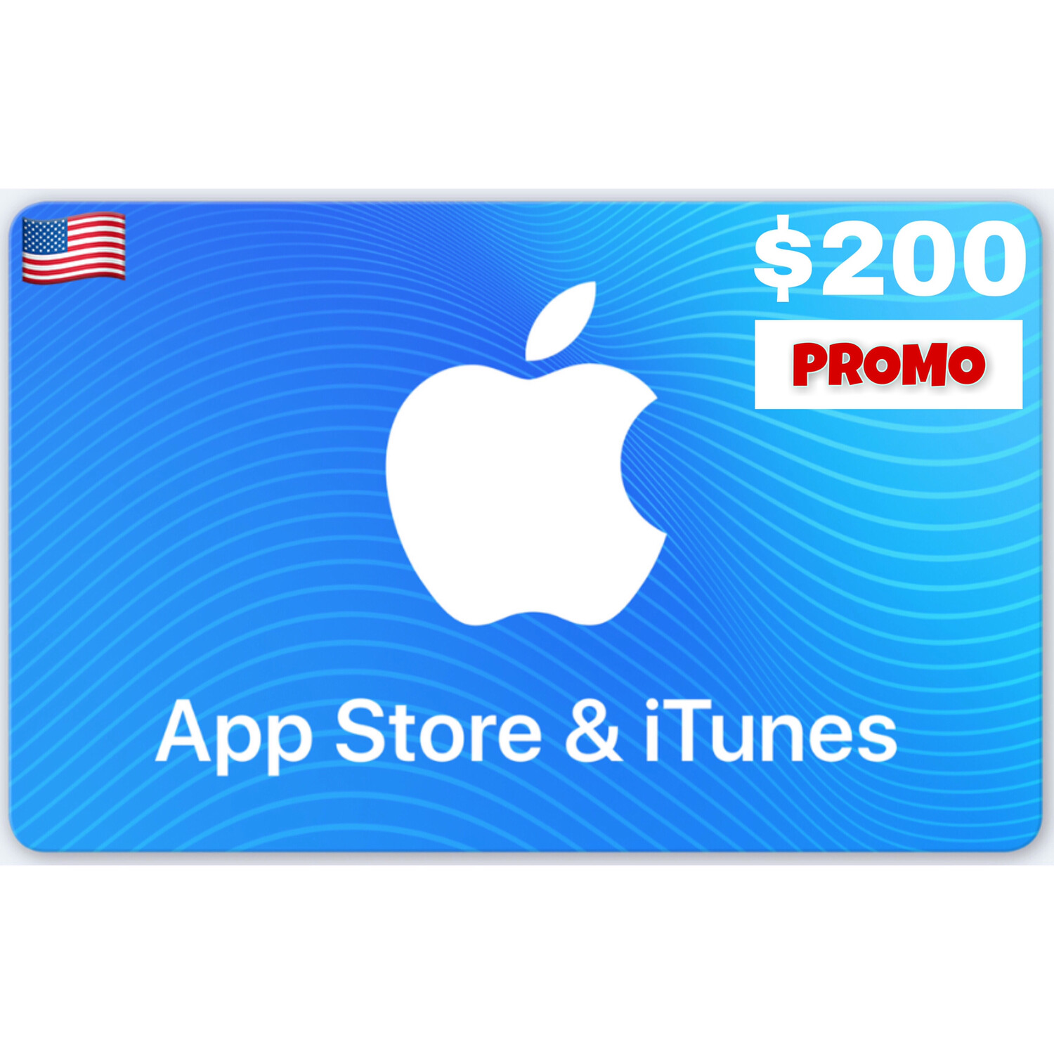 PROMO Apple iTunes Gift Card US $200 (Web Order Only)