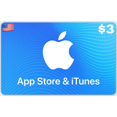Apple iTunes Gift Card US $3