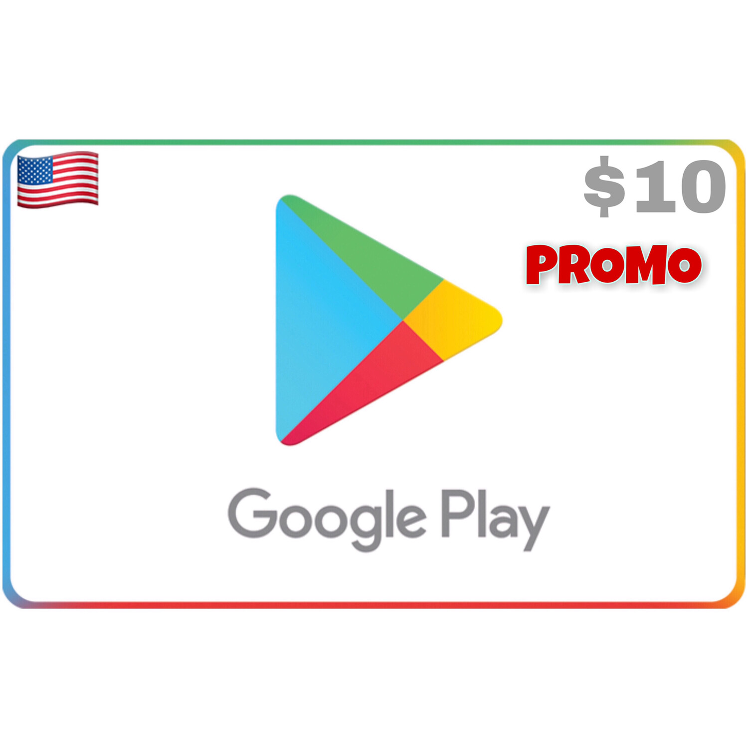 Promo Google Play USA $10 (Web Order Only)