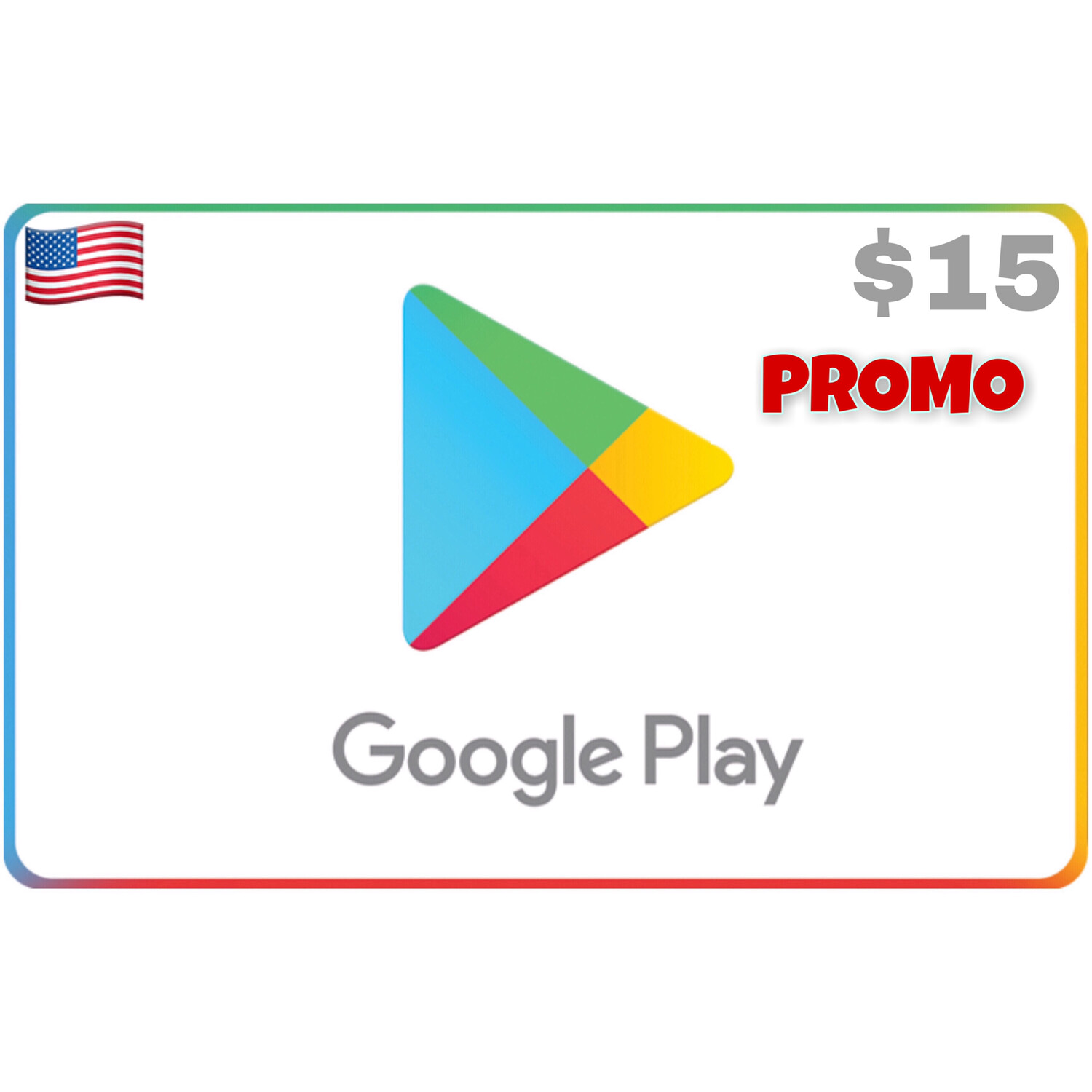 Promo Google Play USA $15 (Web Order Only)