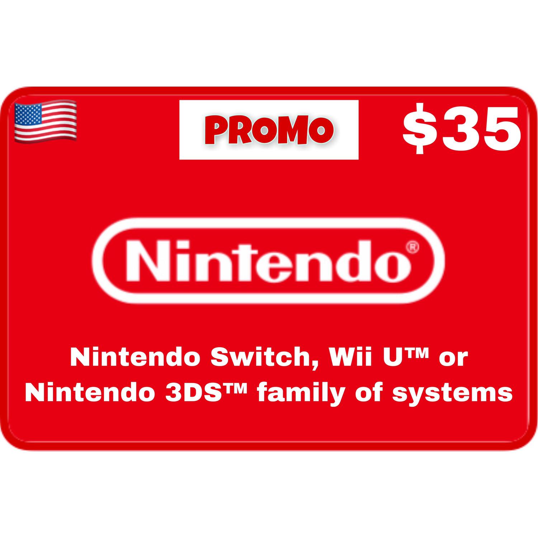 Promo Nintendo eShop USA $35 (Web Order Only)