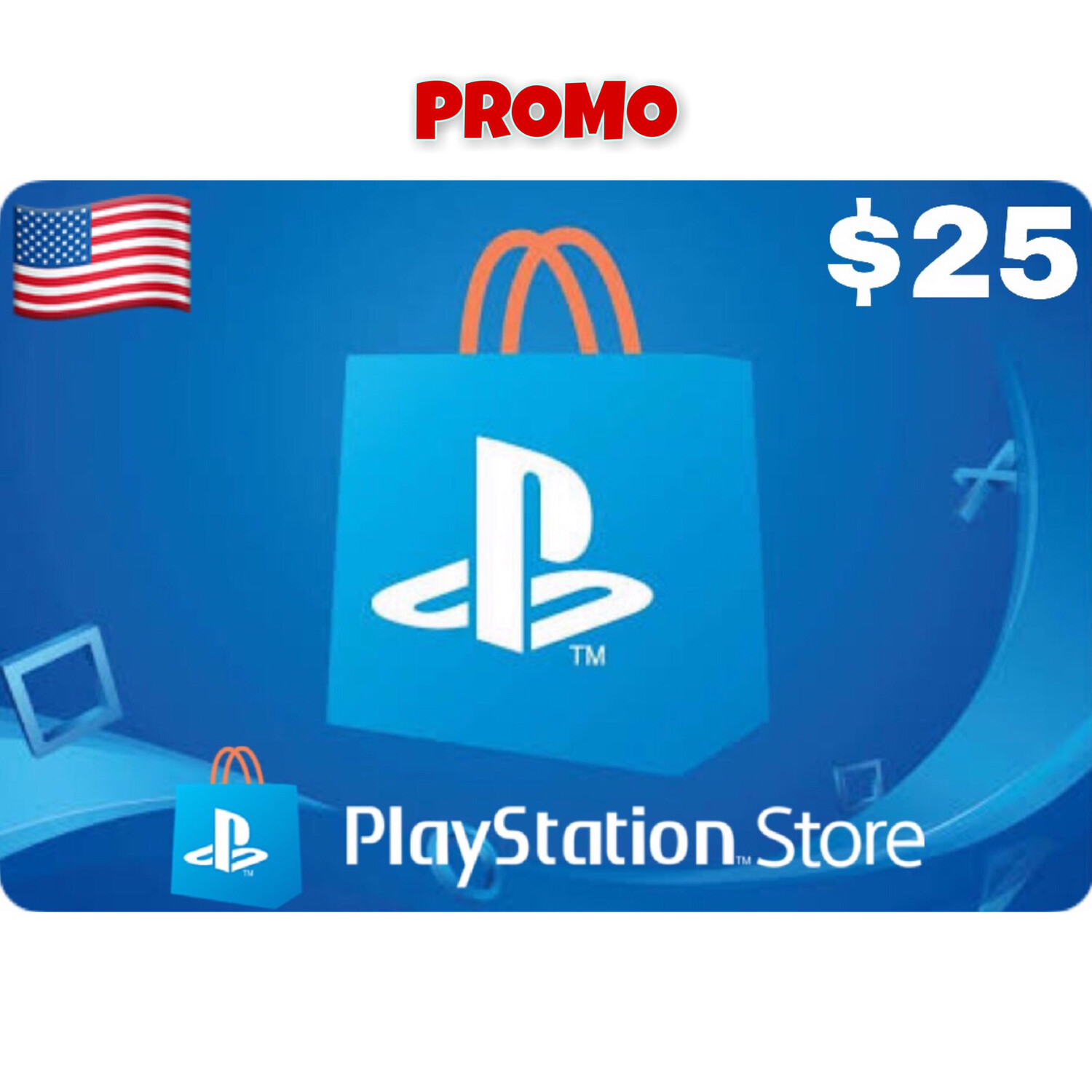 Promo Playstation (PSN Card) USA $25 (Web Order Only)