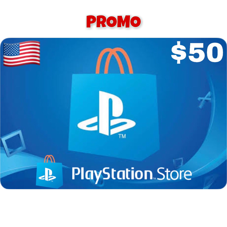 Promo Playstation (PSN Card) USA $50 (Web Order Only)