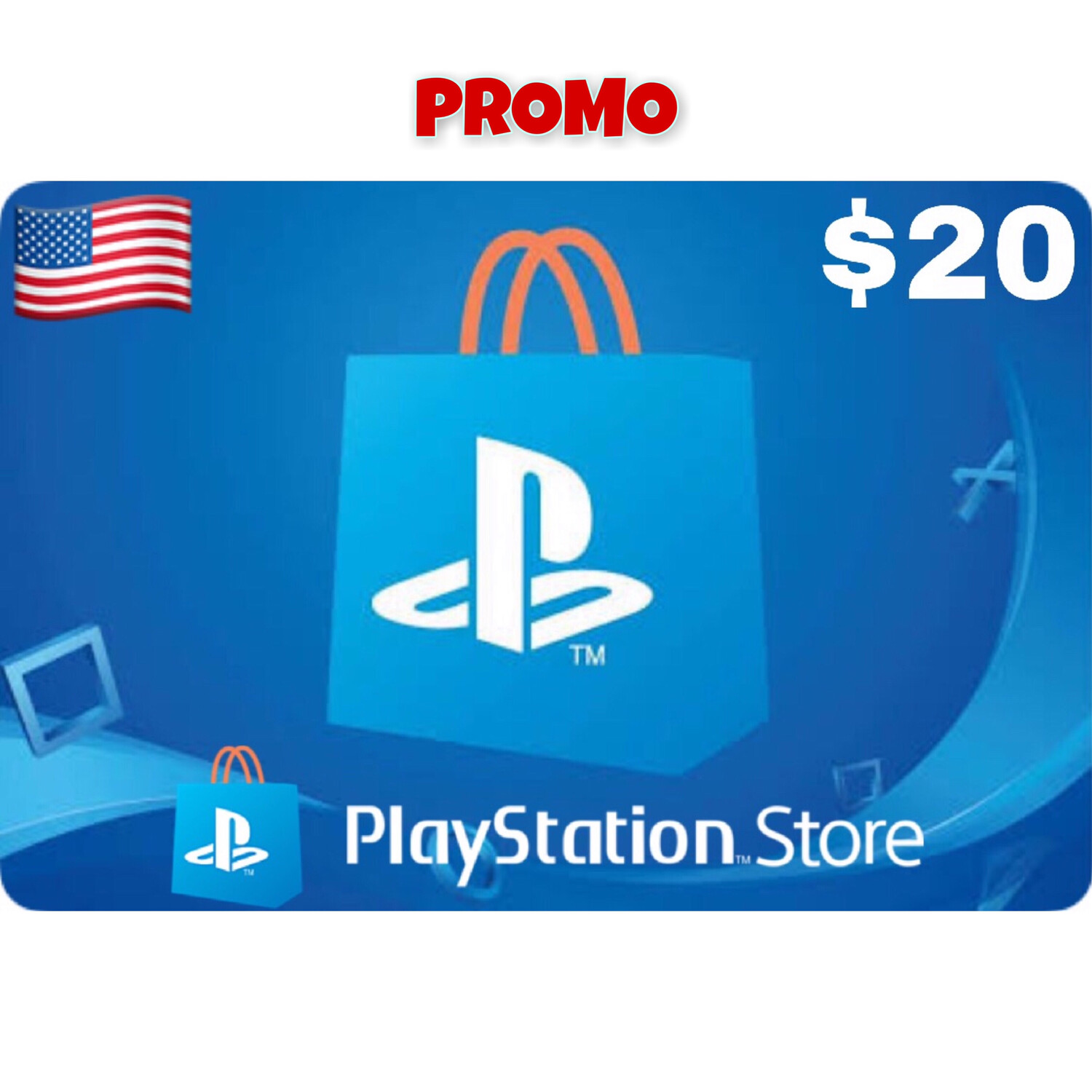 Promo Playstation (PSN Card) USA $20 (Web Order Only)