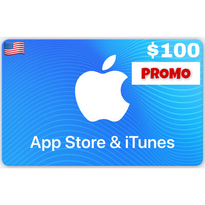 PROMO Apple iTunes Gift Card US $100 (Web Order Only)