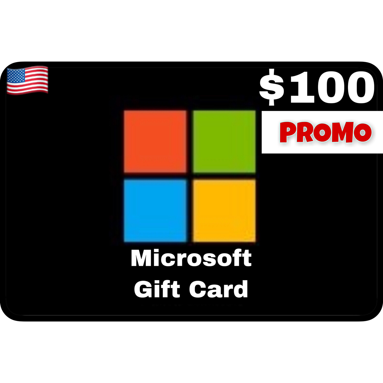 Promo Microsoft Gift Card $100 Digital Code (Web Order Only)