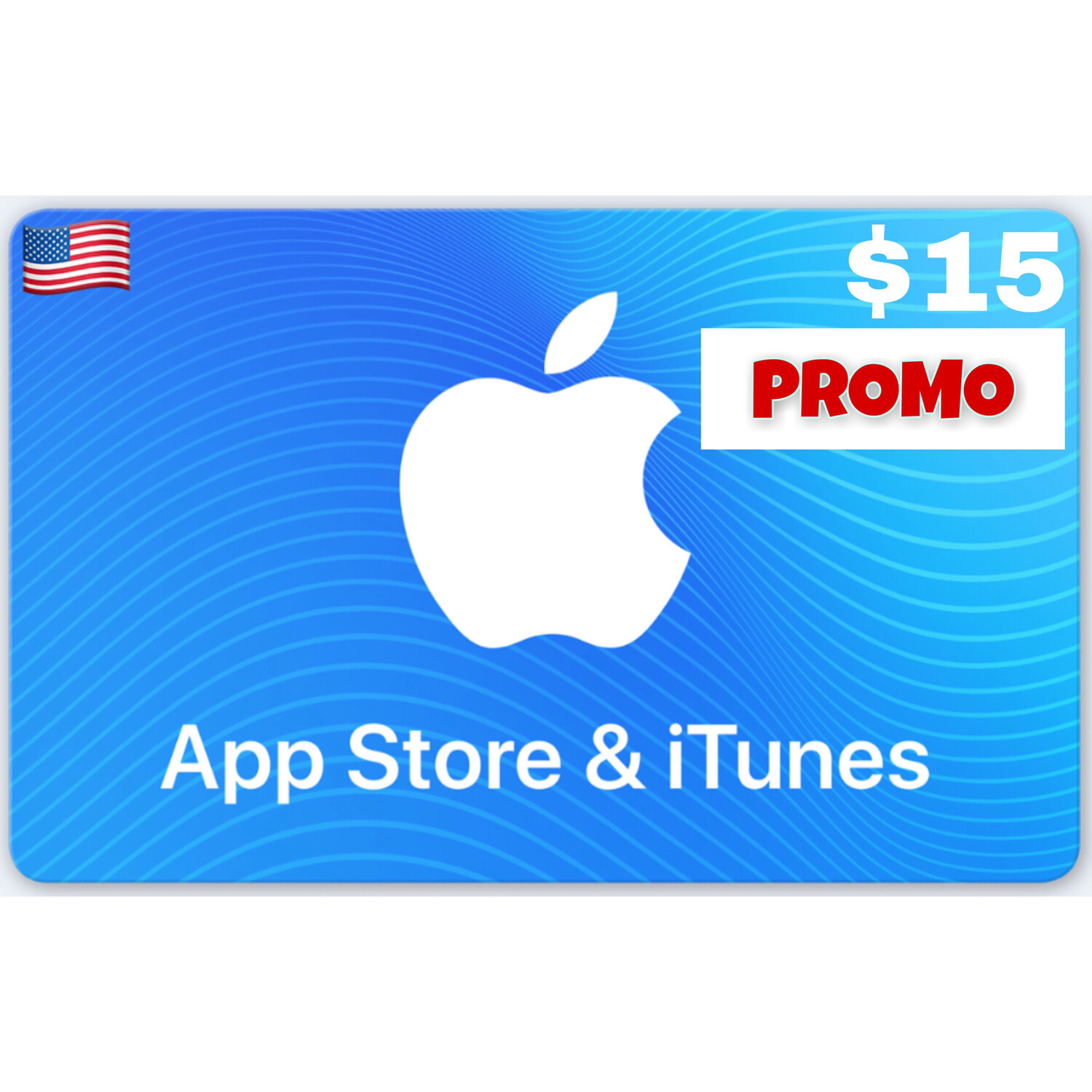 PROMO Apple iTunes Gift Card US $15 (Web Order Only)