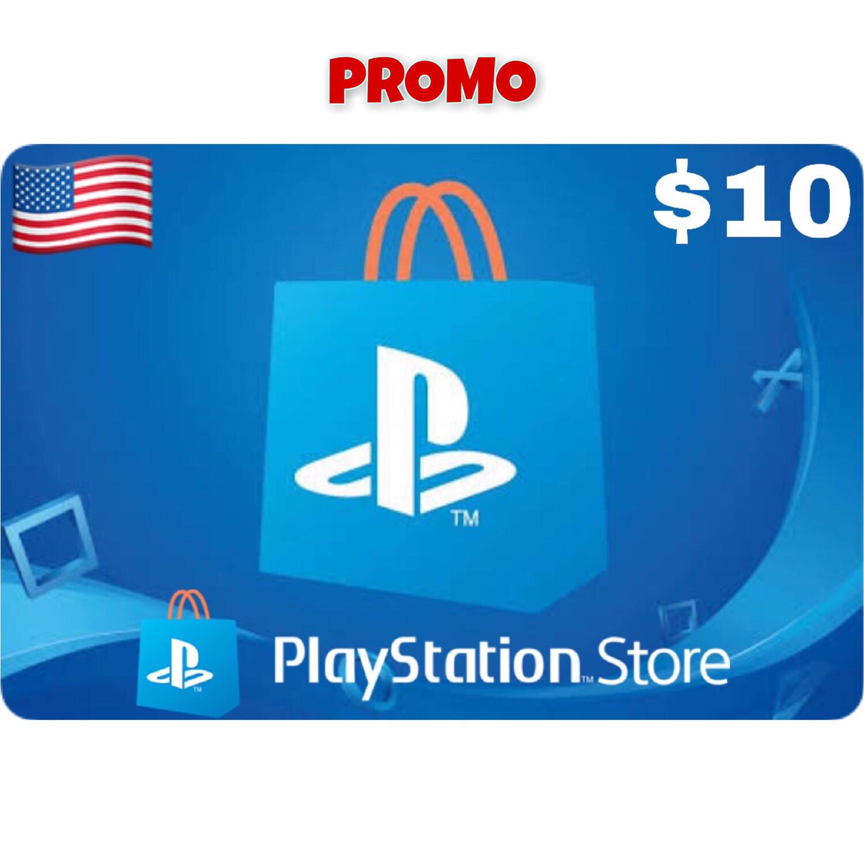 Promo Playstation (PSN Card) USA $10 (Web Order Only)