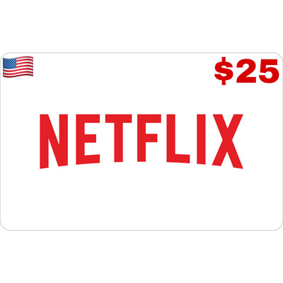 Netflix Gift Card US $25