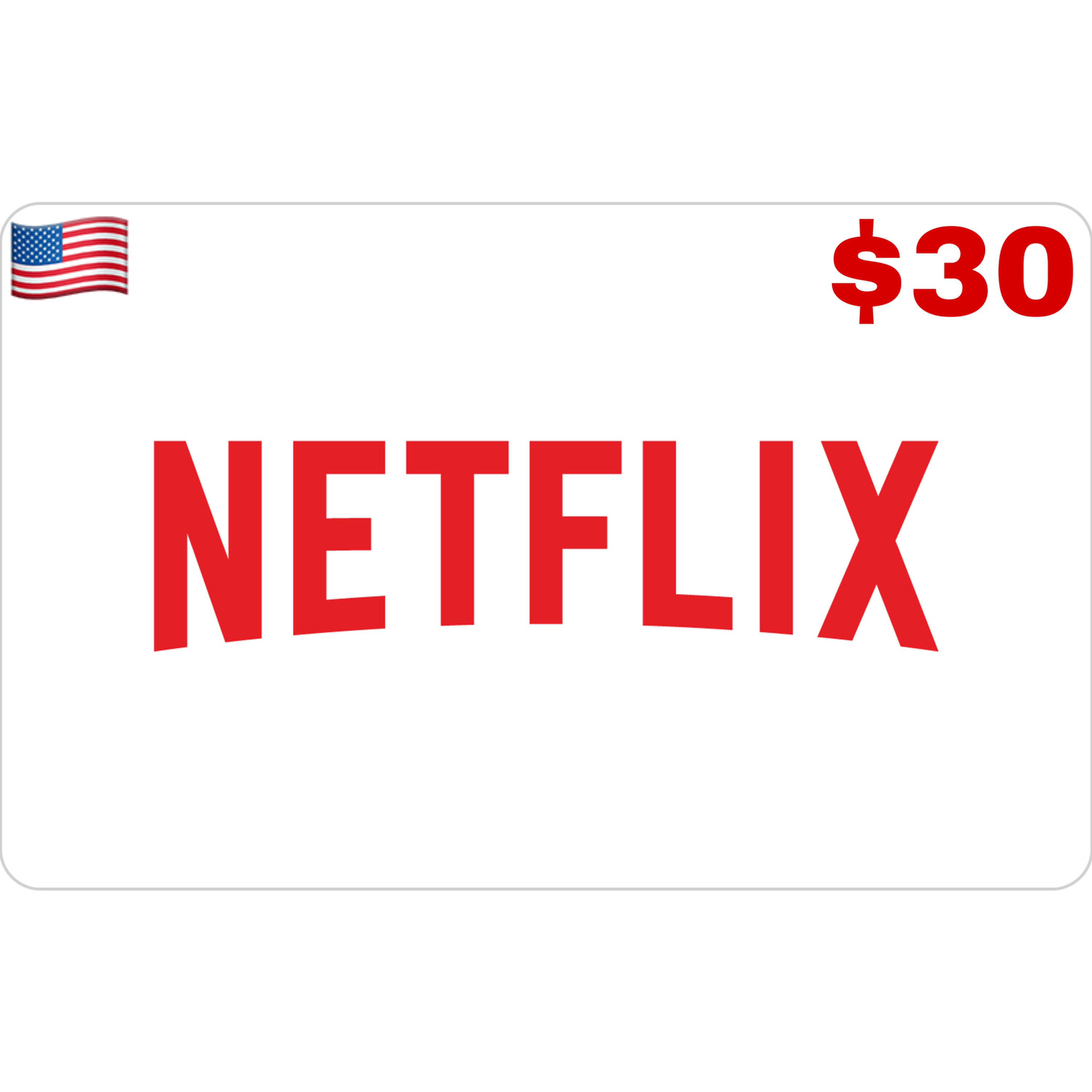 Netflix Gift Card US USD $30