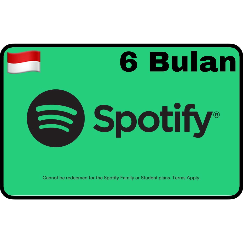 Spotify Premium Gift Card Indonesia 6 Bulan