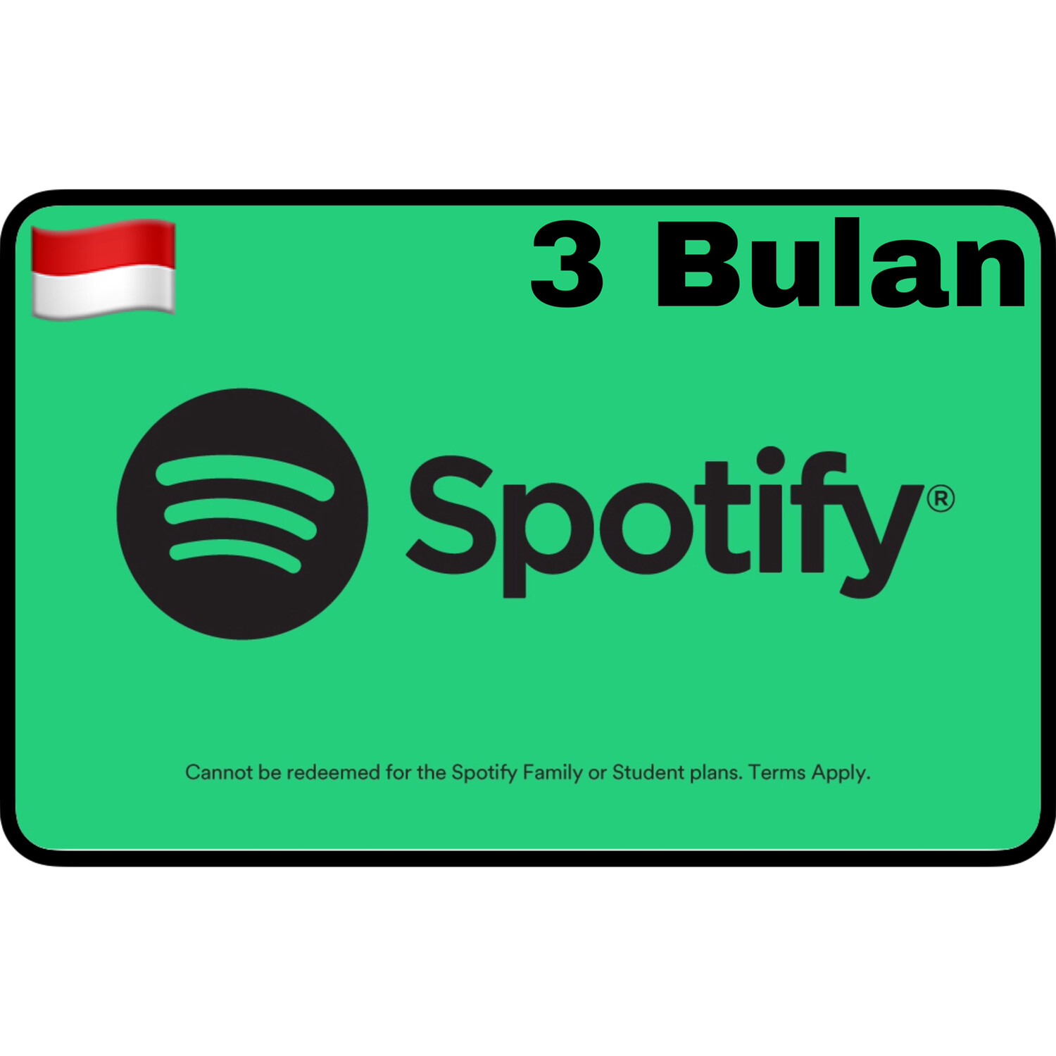 Spotify Premium Gift Card Indonesia 3 Bulan