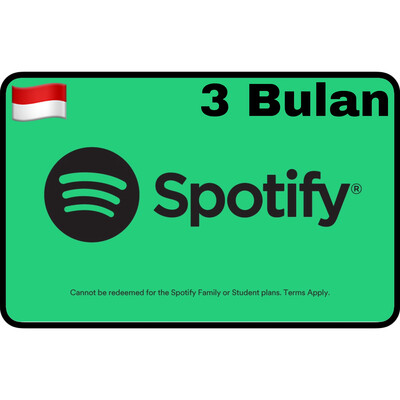Spotify Premium Gift Card Indonesia 3 Bulan