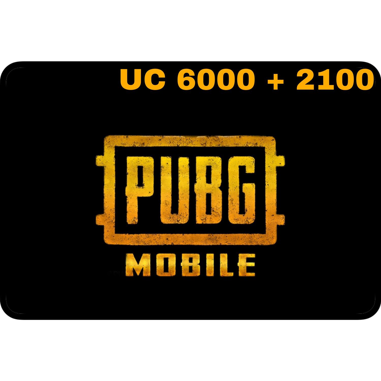 PUBG Mobile UC 6000 + 2100 (8100 UC) Gift Code